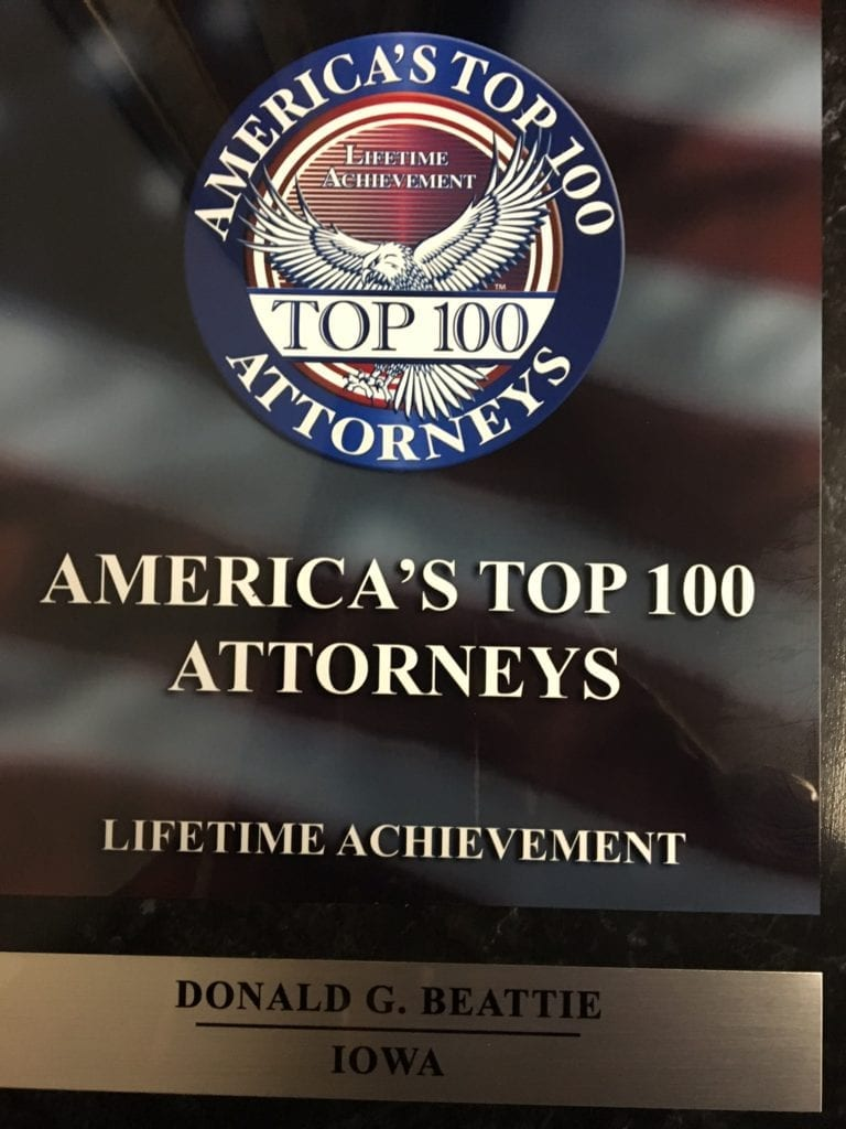 Don Beattie Selected as America's Top 100 Attorneys
